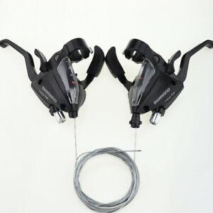 1 Pair MTB Bike Brake Levers Set Shifter Shift for Shimano ST-EF500 3x7 Speed F
