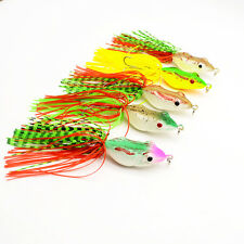 5pcs Lot Soft Frog Lures Fishing Lure Soft Bait Fishing Tackle 5cm/8.5g Frogs