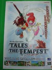 TALES OF TEMPEST OFFICIAL PROMO POSTER! VERY RARE! AMAZING SHOW PIECE!