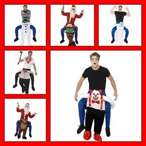 Huckepack Kostüm,Clown,Halloween,Frau,Oma,Karneval,Geist,Elfen,Zwerg,Piggyback