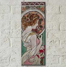 Art Nouveau Lady 6x16 Decorative Ceramic Tile Wall Plaque Art Decor Gift 05876