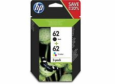 Original HP 62 Black Colour Ink Cartridge Combo Set for HP Envy 5640 printer