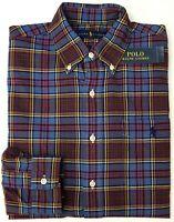 NWT $89 Polo Ralph Lauren Long Sleeve Shirt Mens Size XL Blue NEW
