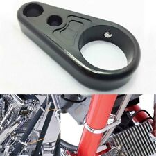 "1"" 25mm Black Alloy Brake Clutch Cable Wire Clamp for Harley Chopper Sportster"