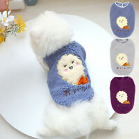 Dog Clothes for Small Dogs Girl Boy Soft Fleece Warm Sweater Winter Apparel Pug