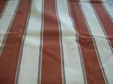 Brown and cream stripe lined curtains  66x90 Ring top BNIB