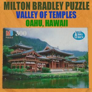 "MILTON BRADLEY Big Ben Jigsaw Puzzle Valley Of Temples, Oahu  300 Pieces 14""x20"""