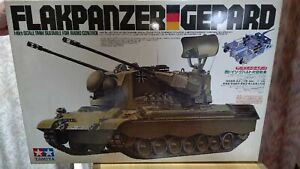 Tamiya RC TANK 1/16 West German FLAKPANZER GEPARD Aircraft Tank Kit NEW/Open Box