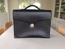 Dunhill Leather Briefcase - Chocolate Brown