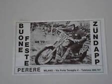 advertising Pubblicità 1972 MOTO ZUNDAPP GS