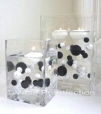 Black&White Pearls-Jumbo/Assorted Sizes Vase Fillers for Decorating Centerpieces