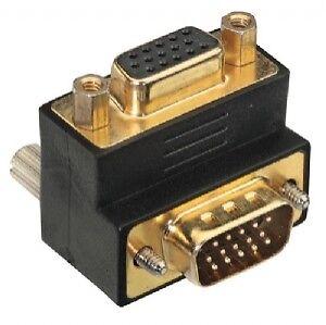 Lindy 70318 -  90 degree UP - VGA-Adapter - HD-15 (M) - HD-15 (F)  -