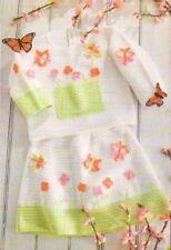 Butterflies & Flowers Girl'S Outfit Digest Size Crochet Pattern Instructions