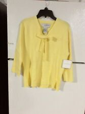 new yellow, sag harbor, size large light weight sweater