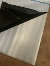 0.9mm 430 grade stainless steel sheet. Magnetic. Brushed finish. 48hr delivery