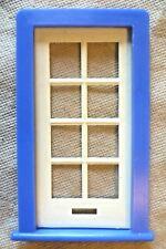 Vintage Casa De Muñecas hágalo usted mismo-Caroline 's Home Esmaltado Con Paneles De Puerta & Blue Frame #2