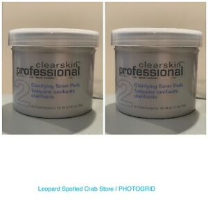 2 Avon Clearskin Professional Clarifying Toner Pads Acne Treatment #2 45 Pads