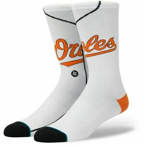 STANCE BALTIMORE ORIOLES HOME JERSEY SOCKS LARGE 9-12 WHITE NWT $18