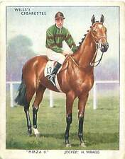 N°17 Cheval course Horse Mirza II Sport Racehorse Jockey 1938 IMAGE CARD 30s