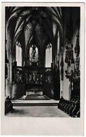 Ansichtskarte Blaubeuren - Klosterkirche - Chor mit Hochaltar - schwarz/weiß