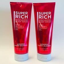 2 Bath & Body Works Japanese Cherry Blossom Super Rich Moisturizing Body Wash
