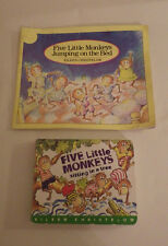 Lot of 2 Five Little Monkey Books Jumping on the Bed Sitting in a Tree