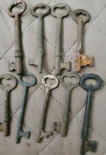 Lot Of 9 Vintage Skeleton Keys
