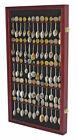 60 Spoon Display Case Rack Holder Cabinet Shadow Box Wall Rack LOCKABLE SP02-CHE