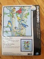 DIMENSIONS BIRCH TREE BIRDS Counted Cross STITCH KIT #35252 James Hautman