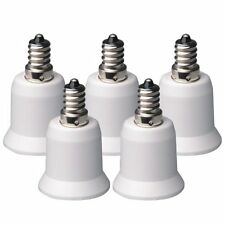 5Pcs E12 Candelabra To E27 Base Light Bulb Lamp Socket Enlarger Adapter Converte