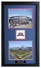 WRIGLEY'S 100th YEAR ANNIVERSARY   (2) 8X10 PHOTO's W/ LOGO FRAMED TO 28X16