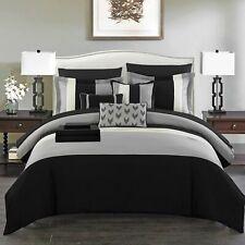 Moriarty 10 Piece Comforter Bed in a Bag Decorative Pillows Shams Black