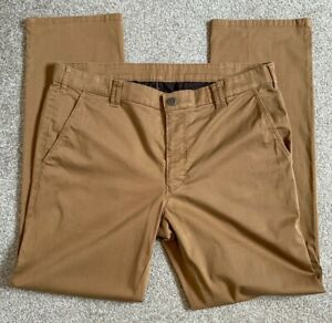 GORGEOUS MEYER MADRID STRETCH LIGHTWEIGHT SAND CHINO TROUSERS 38 W 32 L