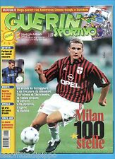 GUERIN SPORTIVO-1999 n.30- SHEVCHENKO-VIERI-LEWIS -INS.MILAN 100 ANNI-NO POSTER