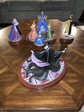 Signed Rare Wdcc Sleeping Beauty 'An Uninvited Guest' Statue Set #518/1000