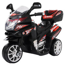 Kids Ride On Motorcycle 6V Toy Battery Powered Electric 3 Wheel Power Bicyle BK