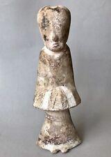 Antica Cina Dinastia Han terracotta che servono Maid Statuetta visibili della superficie pigm