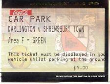 Ticket - Darlington v Shrewsbury Town - Car Park