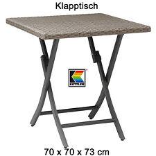 KETTLER Klapptisch 70 x 70 cm Geflechttisch Aluminium und Geflecht Gartenmöbel