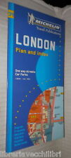 LONDON Plan and index One way streets Car parks Scala 1:8000 Guida Michelin di