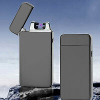 USB Electric Dual Arc Metal Flameless Torch Rechargeable Windproof Lighter CJJ~~