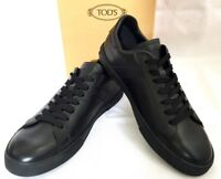 "TOD'S ""ALL CASSETTA"" Sneakers Schuhe schwarz Leder black Leather Originalbox NEU"