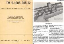 TM 9-1005-205-12 Rifle, Cal .30 M1903A4 (Sniper's) W/E