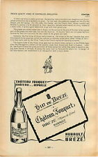 ADVERTISEMENT Vouvray Vineyard Wine Vin de Breze Chateau Fuquet Hubault