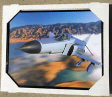 McD F-4 PHANTOM USAF ANG AIR-TO-AIR COLOR PHOTO FRAMED 16x20 HAPPY FATHERS DAY!