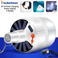 Solar LED Bulb Rechargeable 2/5 Modes Emergency Night Market Light Camping Light