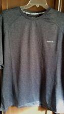 Reebok Nwt Men's Shirt, Grey Long Sleeves Exercise, Gym, Casual, Xl