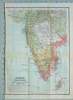 Mapa/Batalla Plan India Sur ~ Británico Possessions Protección Mysore Nizams