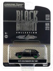 """Chase 1976 VOLKSWAGEN GOLF MK1 """"BLACK BANDIT"""" 1/64 DIECAST GREENLIGHT 28010 C"""