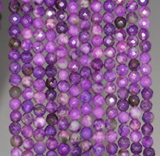 4MM  SUGILITE GEMSTONE FACETED ROUND LOOSE BEADS 15""